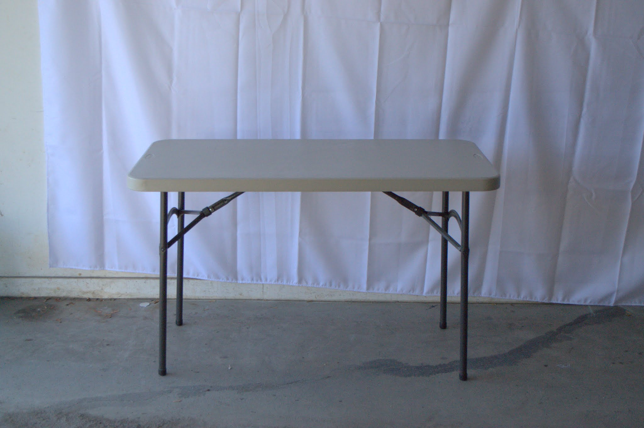 4ft Banquet Table Seats 4 6 Use As Gift Table, Guest Book Table, Drink Table,  Small Serving Table, Dinnerware Table, Etc